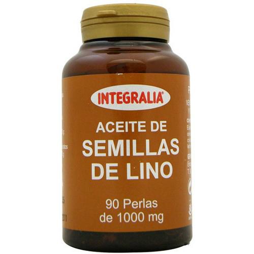 Perlas de aceite de lino Integralia de 1000mg. Fuente vegetal de ácidos grasos omega 3 y 6 en una correcta proporción.