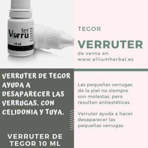 Verruter de Tegor tratamiento de verrugas