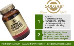 Cereza y cúrcuma complex 60 cápsulas de Solgar