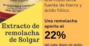 Remolacha extracto 500 mg (beta vulgaris) 90 cápsulas de Solgar