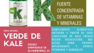 Verde de kale BIO 80 cápsulas de 630 mg de Soria Natural