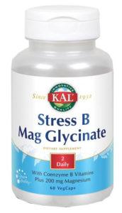 Stress B Mag Glycinate de KAL con magnesio y vitamina B apoya el sistema nervioso
