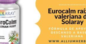 Eurocalm raíz de valeriana 60 cápsulas de Solaray
